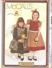 McCall's 3366 Girls' Dresses, Pinafore and Vest - 6-7-8 - Sewing Pattern