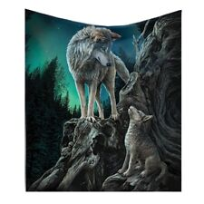 Gorgeous Lisa Parker Throw Blanket - Guidance - Wolf -160cm - Nemesis Now