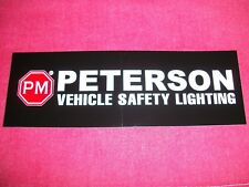 Peterson Vehicle Safety Lighting Sticker Decal NHRA Hot Rod Classic Cars