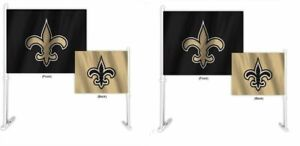 New Orleans Saints NFL Home and Away Car Flag ( set of two )