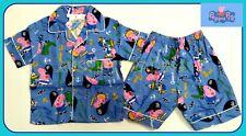 BNWT Peppa Pig boys Pyjamas 100 % cotton shirt top kids pajamas new sleepwear