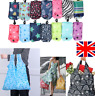 5x Reusable Foldable Shopping Bag Eco Friendly Tote Handbag Fold Away Clip