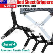 4pcs Adjustable Bed Sheet Holders Fasteners Grippers Clips Suspenders Straps A