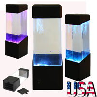 Jellyfish Aquarium Tank LED Light Lamp Relax Bedside Decor Mood Night Light Gift