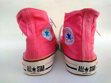 Vintage 80s Pink Chuck Taylors Converse All Star Hi Shoes Made In USA 11 US