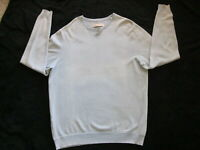 Men's TOMMY BAHAMA Sweater Cotton Long Sleeve Pull Over Crew Neck Pale Blue  L