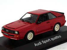 Very Rare Audi Sport Quattro SWB Red White Wheels 1:43 MINICHAMPS (Dealer Model)