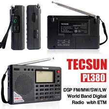 Tecsun PL380 FM Stereo/MW/SW/LW World Band Digital Radio Receiver DSP ETM UK