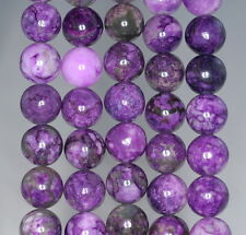 10MM  PURPLE SUGILITE GEMSTONE  ROUND 10MM LOOSE BEADS 15.5""
