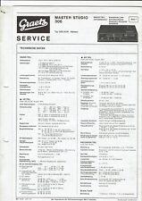 Graetz Original Service Manual für Master studio 306 3-tlg.