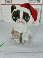 "8"" Grumpy Cat Sitting with Christmas Hat GREAT GIFT! CUTE!"