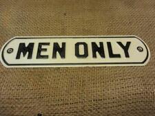 Vintage Men Only Embossed Metal Sign > Old Antique Store Rest Room Signs 10004