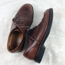 d7493c9717d POLO RALPH LAUREN Men s Dress Shoes Brown Leather Lace Up Rounded Toe Size  8.5