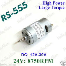 RS-555 DC Motor Large Torque High Power DC 12V-30V 24V for Drill Electric Tools