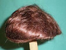 """Antique doll wig/mohair marron foncé 10"""" à 11""""/cheveux court"""