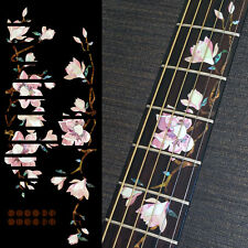 Magnolia Tree with Pink Flowers Fret Markers Inlay Sticker Decal For Guitar