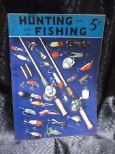 Hunting And Fishing Magazine June 1941 Fishing Tackle cover lures poles reels