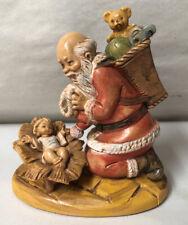 1989 Simonetti Fontanini Italy 599 Praying Santa & Baby Jesus Figurine Christmas