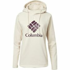 Columbia Women's Hart Mountain Logo Hoodie Size XS Chalk & Black Cherry Pullover
