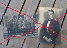 original 2 x  Foto Luftwaffe Kampfgeschwader Boelke Portrait und Gruppenaufnahme