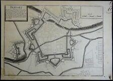 Nicolas de Fer Plan des Fortifications de BELFORT 1695