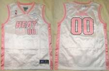 NWT Miami Heat NBA #00 Reebok Girls Pink/White Jersey Youth Size XL (16)