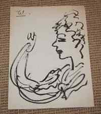 Dessin Charles Kiffer (1902-1992) Portrait fauvisme env 1940 cachet atelier 2