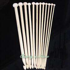 """10"""" 25cm 12 Sizes Afghan Tunisian Bamboo Crochet Hooks"""