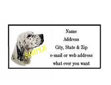 English Setter Address Labels Cool! #3