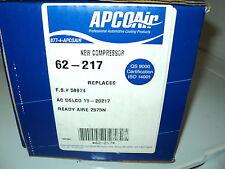 APCO AIR AC COMPRESSOR W/CLUTCH ASSY NEW 62-217 BUICK CHEVY OLDS PONTIAC