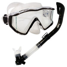 Scuba Dive Snorkeling Panoramic Mask 100% Dry Top Snorkel Tube Package Gear Set