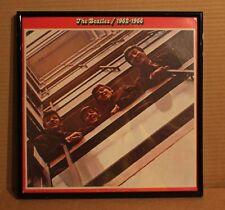 VINTAGE FRAMED BEATLES 1962-1966 LP RECORD ALBUM COVER BLACK METAL FRAME DISPLAY