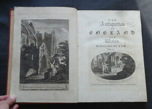 THE ANTIQUITIES OF ENGLAND & WALES by Francis Grose: 6 Vols / Druids : 1st 1773.