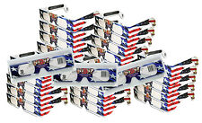 Fireworks -Diffraction Glasses - See Rainbows- Folded 50 Pairs - Patriotic Style