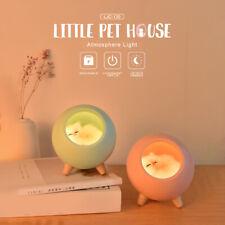 Cartoon Cat House LED Night Light - Table Lamp- Kitty Sleeping Bedroom Light