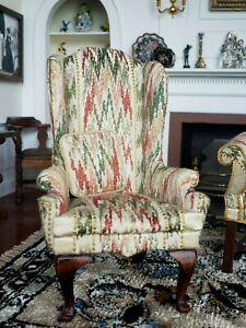 Dollhouse Miniature Artisan Robert Bernhard Dolphin Originals Arm Chair Signed