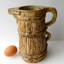 Vintage Hillstonia pitcher vase Moira Pottery stoneware 8 inches tall jug