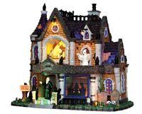 Lemax Spooky Town CROWLEY HALL #35552 BNIB Illuminated Porcelain Spooky House