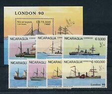 Nicaragua 2977/83 Block 189 postfrisch / Schiffe .........................1/3712