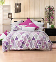 Bianca Lexi Grape Doona|Duvet|Quilt Cover Set in All Sizes