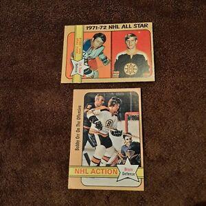 1972-73 OPC Hockey Lot Of 2 Bobby Orr Cards