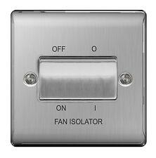 BG Steel 10ax Plate Switch Fan ISOLATER 3pole