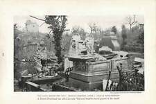 1917 Angel Survives Bombardment Of French Cemetery In Lorraine