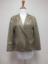 DKNY, Donna Karan New York, Gold Cotton Blend Jacket Blazer Size 10, EUC