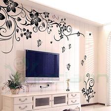 Wall sticker adesivo parete Fantasy decorazione adesiva casa ramo fiori farfalle
