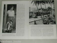 1950 magazine article about FIJI, history, natives, copra harvesting