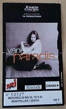 ticket billet used stub place concert VANESSA PARADIS 1993 Montpellier