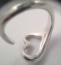 Tiffany & Co Sterling Silver Elsa Peretti Open Heart Ring Size 7.50