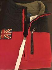 NWT  Polo Ralph Lauren MEDIUM British Flag Fleece Pullover Sweatshirt