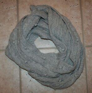 NWT Abercrombie Girls No Size Grey Eternity Continual Knit Scarf